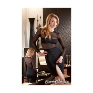 Abitino con trasparenze maniche lunghe - sexy shop La Passione Verona