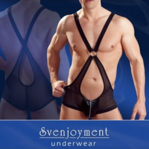 Body uomo in retina con zip - sexy shop La Passione Verona