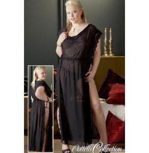 Vestaglia lunga nera con spacco sexy shop la passione verona