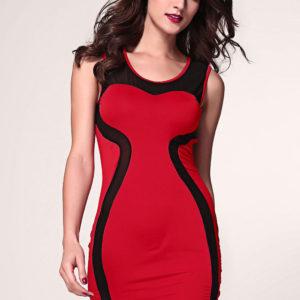 abitino-rosso-con-inserti-in-mesh