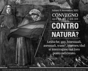 contro natura gay lesbiche trans convegno a Verona
